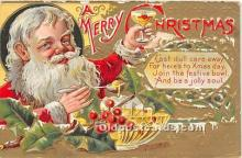 hol017259 - Santa Claus Postcard Old Vintage Christmas Post Card