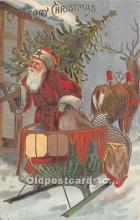 hol017260 - Santa Claus Postcard Old Vintage Christmas Post Card