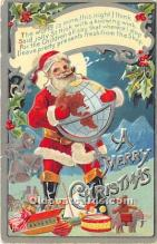 hol017262 - Santa Claus Postcard Old Vintage Christmas Post Card