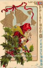 hol017264 - Santa Claus Postcard Old Vintage Christmas Post Card
