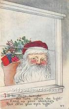 hol017266 - Santa Claus Postcard Old Vintage Christmas Post Card