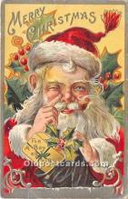 hol017271 - Santa Claus Postcard Old Vintage Christmas Post Card