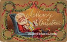 hol017272 - Santa Claus Postcard Old Vintage Christmas Post Card