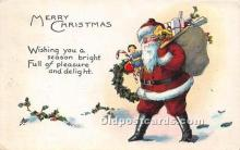 hol017273 - Santa Claus Postcard Old Vintage Christmas Post Card