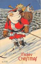 hol017274 - Santa Claus Postcard Old Vintage Christmas Post Card