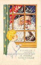 hol017276 - Santa Claus Postcard Old Vintage Christmas Post Card