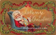 hol017278 - Santa Claus Postcard Old Vintage Christmas Post Card