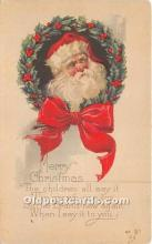hol017279 - Santa Claus Postcard Old Vintage Christmas Post Card