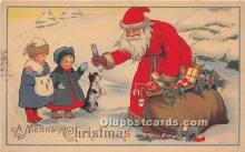 hol017280 - Santa Claus Postcard Old Vintage Christmas Post Card