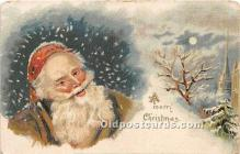 hol017282 - Santa Claus Postcard Old Vintage Christmas Post Card