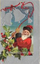 hol017283 - Santa Claus Postcard Old Vintage Christmas Post Card
