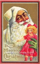 hol017284 - Santa Claus Postcard Old Vintage Christmas Post Card