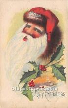 hol017285 - Santa Claus Postcard Old Vintage Christmas Post Card