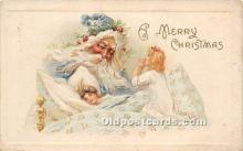 hol017288 - Santa Claus Postcard Old Vintage Christmas Post Card