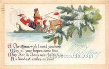 hol017289 - Santa Claus Postcard Old Vintage Christmas Post Card