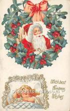 hol017291 - Santa Claus Postcard Old Vintage Christmas Post Card