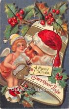 hol017292 - Santa Claus Postcard Old Vintage Christmas Post Card