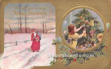 hol017295 - Santa Claus Postcard Old Vintage Christmas Post Card