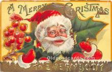 hol017296 - Santa Claus Postcard Old Vintage Christmas Post Card