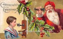 hol017297 - Santa Claus Postcard Old Vintage Christmas Post Card