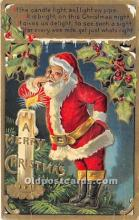 hol017300 - Santa Claus Postcard Old Vintage Christmas Post Card