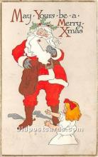 hol017301 - Santa Claus Postcard Old Vintage Christmas Post Card