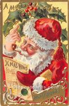 hol017302 - Santa Claus Postcard Old Vintage Christmas Post Card
