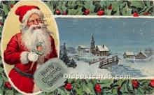 hol017303 - Santa Claus Postcard Old Vintage Christmas Post Card