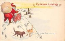 hol017304 - Santa Claus Postcard Old Vintage Christmas Post Card