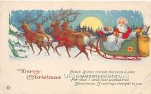 hol017305 - Santa Claus Postcard Old Vintage Christmas Post Card