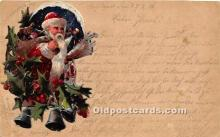hol017306 - Santa Claus Postcard Old Vintage Christmas Post Card