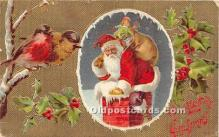 hol017308 - Santa Claus Postcard Old Vintage Christmas Post Card