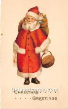 hol017309 - Santa Claus Postcard Old Vintage Christmas Post Card