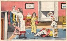 hol017313 - Santa Claus Postcard Old Vintage Christmas Post Card