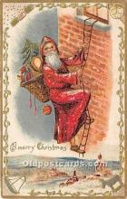 hol017315 - Santa Claus Postcard Old Vintage Christmas Post Card