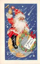 hol017316 - Santa Claus Postcard Old Vintage Christmas Post Card