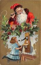 hol017321 - Santa Claus Postcard Old Vintage Christmas Post Card