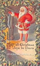 hol017322 - Santa Claus Postcard Old Vintage Christmas Post Card