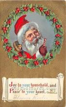 hol017323 - Santa Claus Postcard Old Vintage Christmas Post Card