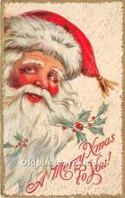 hol017324 - Santa Claus Postcard Old Vintage Christmas Post Card