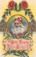 hol017326 - Santa Claus Postcard Old Vintage Christmas Post Card