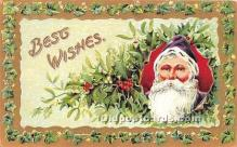 hol017327 - Santa Claus Postcard Old Vintage Christmas Post Card