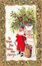 hol017329 - Santa Claus Postcard Old Vintage Christmas Post Card