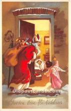 hol017332 - Santa Claus Postcard Old Vintage Christmas Post Card