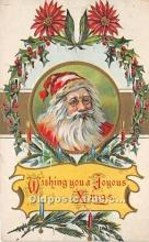 hol017333 - Santa Claus Postcard Old Vintage Christmas Post Card