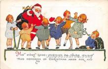 hol017334 - Santa Claus Postcard Old Vintage Christmas Post Card