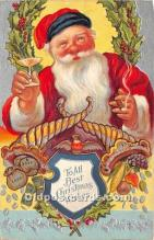 hol017336 - Santa Claus Postcard Old Vintage Christmas Post Card