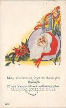 hol017337 - Santa Claus Postcard Old Vintage Christmas Post Card