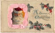 hol017339 - Santa Claus Postcard Old Vintage Christmas Post Card