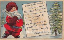 hol017341 - Santa Claus Postcard Old Vintage Christmas Post Card